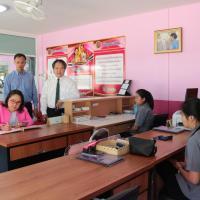 สนับสนุนค่าบำรุงสำนักงานธนาคารโรงเรียน โดยธนาคารออมสิน