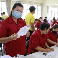 กิจกรรมการทำหน้ากากอนามัยและเจลล้างมือ