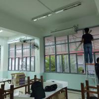 ติดตั้งแอร์ห้องศูนย์ความเป็นเลิศและห้องเรียนชั้น2แผนกวิชาช่างก่อ