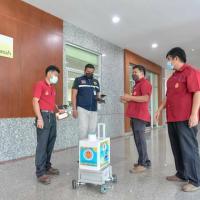 มอบนวัตกรรมพ่นหมอกควันแบบRobotให้กับองค์การบริหารส่วนจังหวัด