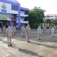 กิจกรรมเคารพธงชาติ และร้องเพลงชาติไทย เนื่องในวันพระราชทานธงชาติ