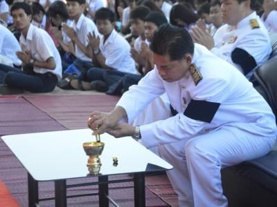 กิจกรรมบำเพ็ญกุศลทางศาสนาน้อมถวายพ่อหลวงของแผ่นดิน